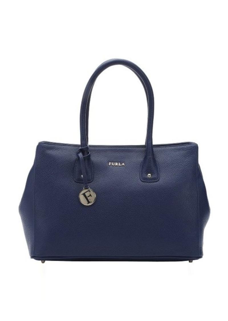 furla furla navy leather 39 serena 39 medium tote handbags shop it to me. Black Bedroom Furniture Sets. Home Design Ideas