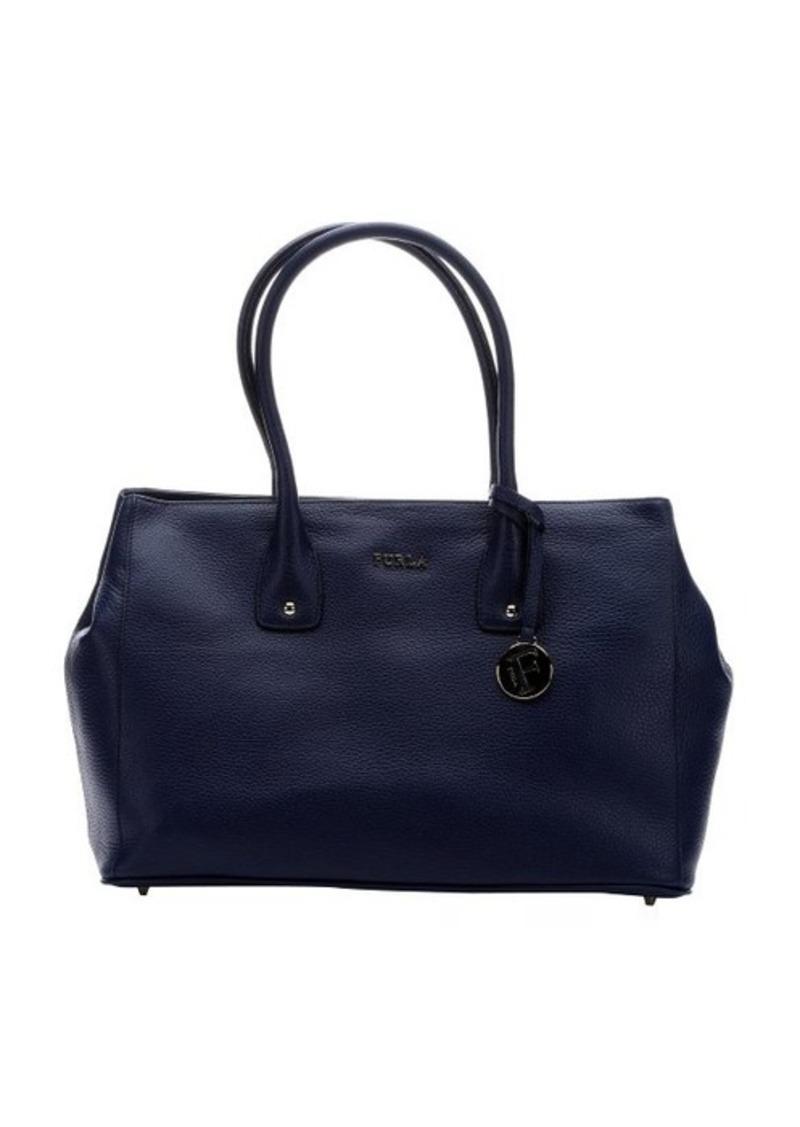 furla furla navy leather 39 serena 39 medium tote bag handbags shop it to me. Black Bedroom Furniture Sets. Home Design Ideas