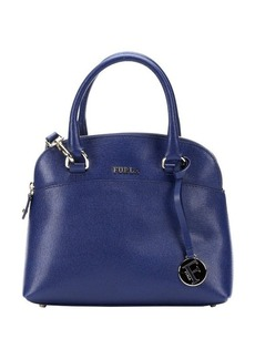 Furla navy leather 'Victoria' small dome satchel