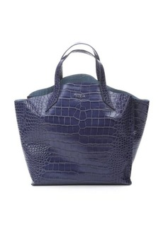 Furla notturno croc embossed leather 'Jucca' medium tote bag