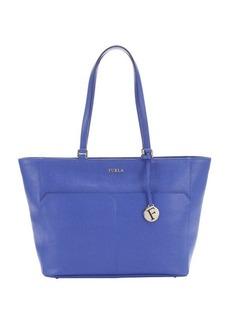 Furla ocean blue leather medium 'Musa' tote bag