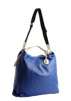Furla ocean blue leather side zipper 'Elizabeth' convertible hobo bag