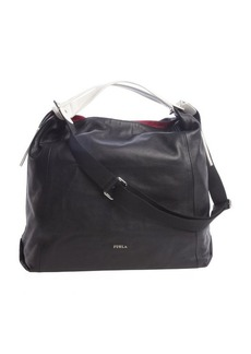 Furla onyx black and petalo leather 'Elizabeth' extralarge hobo
