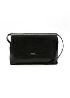 Furla onyx crosshatched leather 'Glam' small crossbody bag