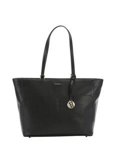 Furla onyx crosshatched leather large 'Musa' tote