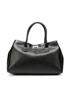 "Furla onyx crosshatched leather 'New Appaloosa"" tote bag"