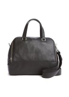 Furla onyx leather 'Amalfi L Dome' convertible tote