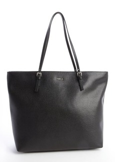 Furla onyx leather buckle adjustable top handle tote