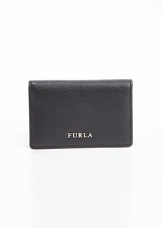 Furla onyx leather bussiness card case