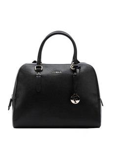 Furla onyx leather 'Elena' medium satchel