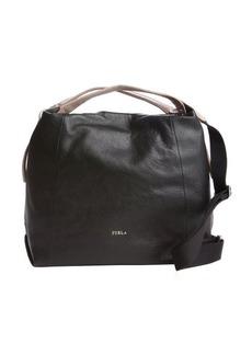 Furla onyx leather 'Elisabeth' extra large hobo bag