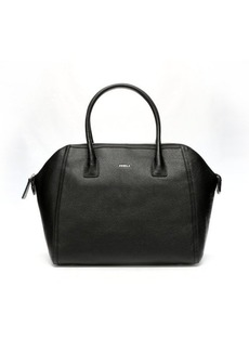 Furla onyx leather 'Ellen' medium satchel