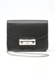 Furla onyx leather 'Julia' mini crossbody shoulder bag