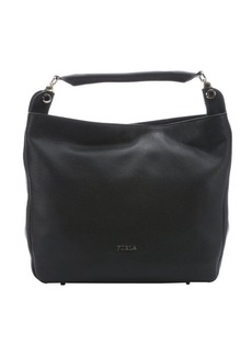 Furla onyx leather large 'Raffaella' hobo bag