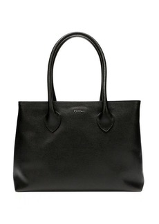 Furla onyx leather 'Martha' medium tote