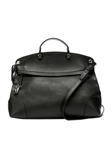 Furla onyx leather 'Piper' large top handle bag