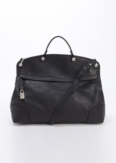 Furla onyx leather 'Piper' top handle satchel