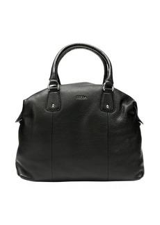 Furla onyx leather 'Raffaella' large satchel