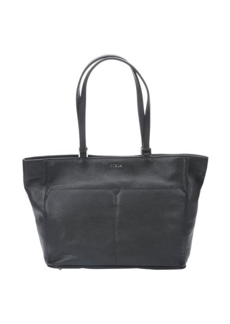 furla furla onyx leather 39 raffaella 39 medium tote handbags shop it to me. Black Bedroom Furniture Sets. Home Design Ideas