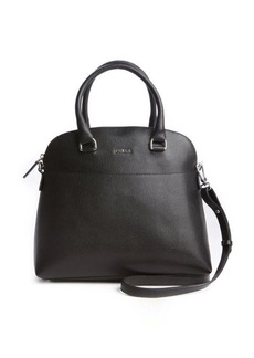 Furla onyx leather 'Victoria M Dome' convertible tote