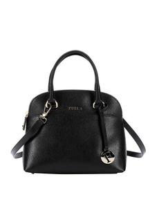 Furla onyx leather 'Victoria' small dome satchel