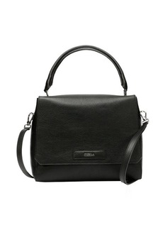 Furla onyx pebbled leather 'Patty S' convertible top handle bag