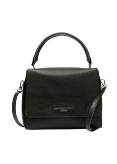 Furla onyx pebbled leather 'Patty S' top handle bag
