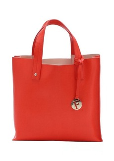 Furla orange leather medium 'Musa' tote