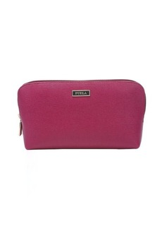 Furla orchid and gloss pink leather cosmetic case set