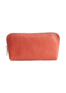 Furla papaya leather large cosmetic case