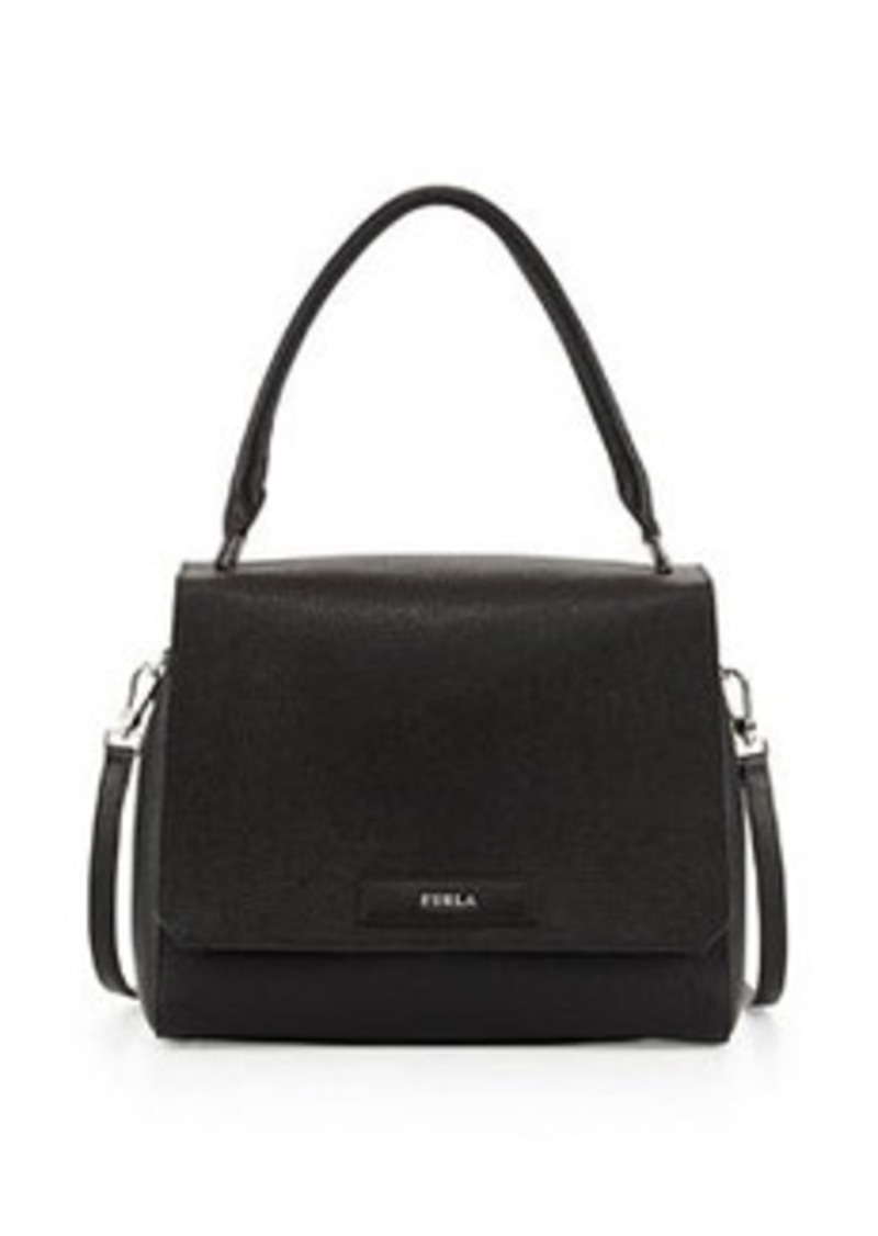 furla furla patty medium leather shoulder bag black handbags shop it to me. Black Bedroom Furniture Sets. Home Design Ideas