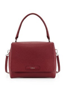 Furla Patty Medium Leather Shoulder Bag, Bordeaux