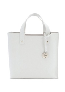 Furla petal white crosshatched leather 'Musa' medium tote