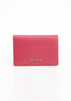 Furla pink leather bussiness card case