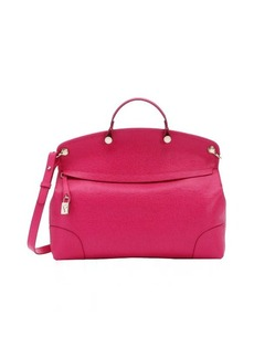Furla pink leather 'Piper' large convertible tote