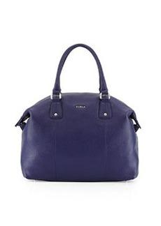 Furla Raffaela Leather Satchel Bag, Notturno