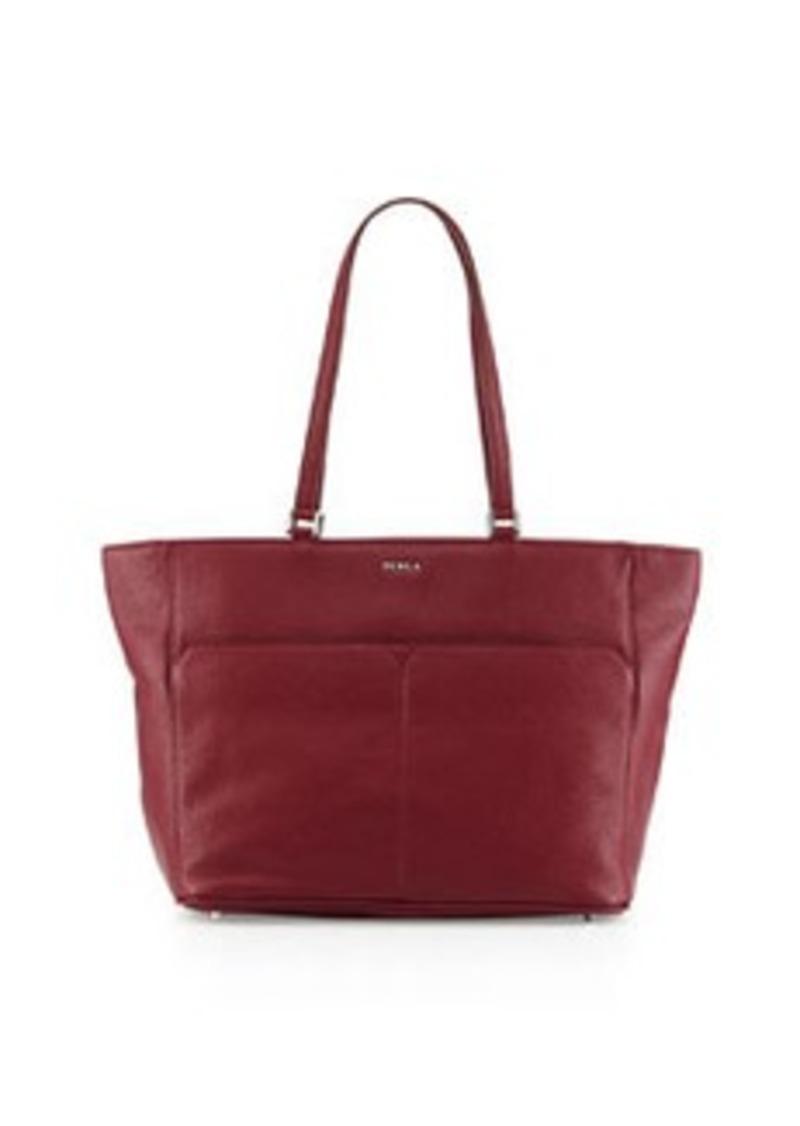 furla furla raffaela medium leather tote bag bordeaux handbags shop it to me. Black Bedroom Furniture Sets. Home Design Ideas