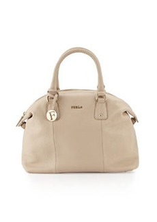 Furla Raffaella Large Leather Satchel Bag, Sand