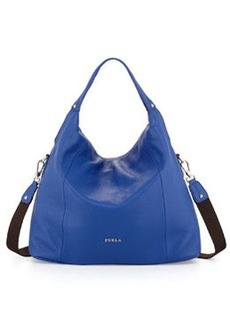 Furla Raffaella Medium Leather Hobo Bag, Ocean