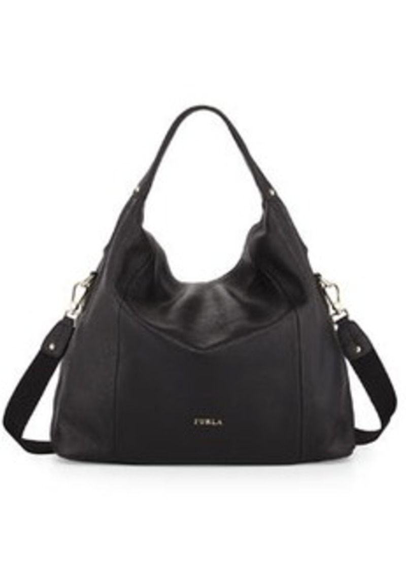 furla raffaella medium leather hobo bag onyx shop it to me all sales in one place shop it. Black Bedroom Furniture Sets. Home Design Ideas