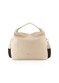 Furla Raffaella Medium Leather Hobo Bag, Sand