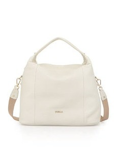 Furla Raffaella Medium Leather Hobo Bag, White