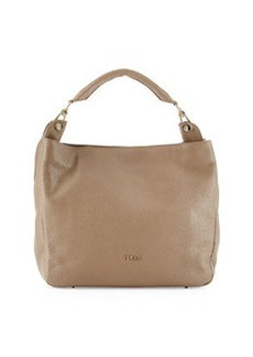 Furla Raffaella Pebbled Leather Hobo Bag, Daino