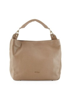 Furla Raffaella Pebbled Leather Hobo Bag
