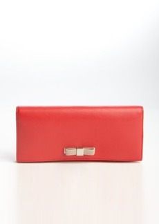 Furla red leather 'Chantilly XL' bifold continental wallet