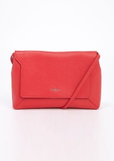 Furla red saffiano leather crossbody bag
