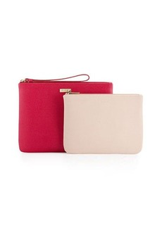 Furla Royal Leather Wristlet/Pouch Set