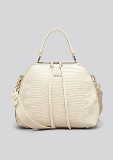 Furla Satchel - Globe Medium Embossed Dome