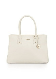 Furla Serena Medium East-West Leather Tote Bag, Petalo (White)