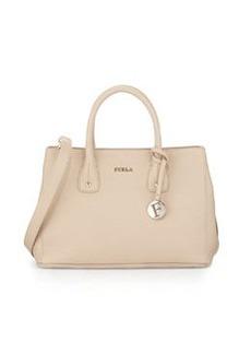 Furla Serena Small Leather Tote Bag, Acero